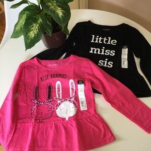 5T Girls Toddler Long Sleeve T-shirt